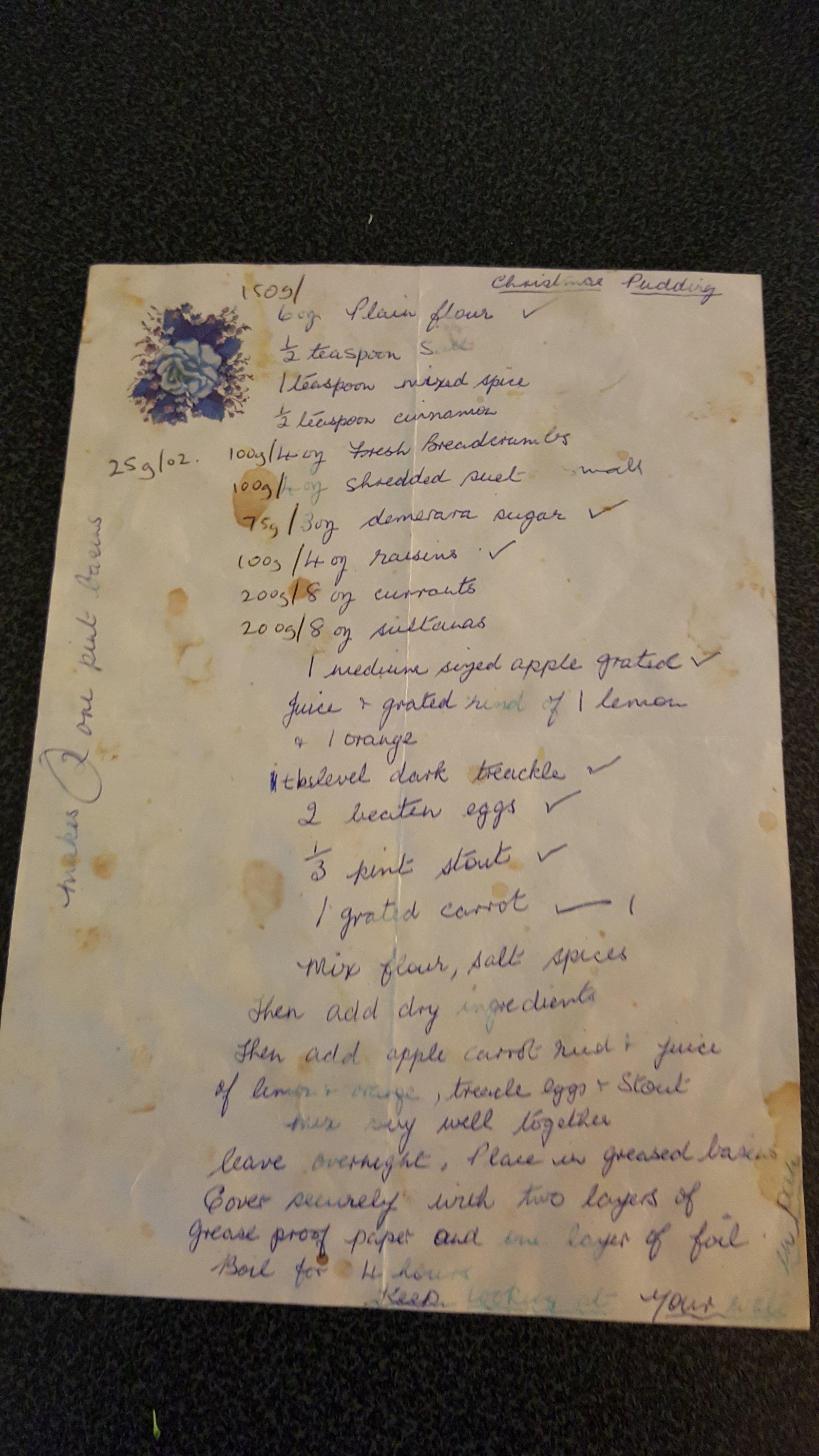 The K Clan Xmas Pud recipe